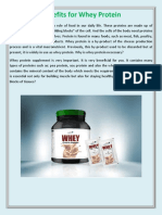 Benefits for Whey Protein