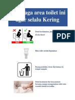 sign toilet kering