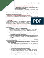 PAUTAS COMENTARIO DE TEXTOS