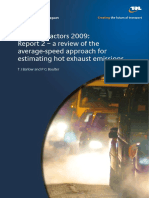 Emission factors 2009 a review of the estimating hot exhaust emission