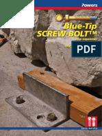 Blue-Tip Screw Bolt