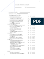 MOD Checklist