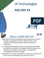 SWK technologies SAGE X3