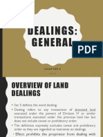 2019 LAND DEALINGS