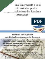 Analiza Doc Curricular - Manual