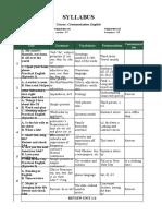 Communication Course - AEF 1 Syllabus (Full)