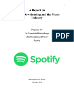 A report on digital downloading and music industry