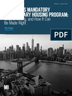 De Blasio's Mandatory Inclusionary Housing Program