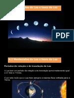 Movimentos da Lua, fases da Lua e Eclipses