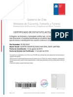 Certificado Estatutos Actualizados Natural Dent abril 2018
