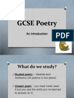 GCSE Poetry Introduction