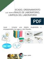 LAVADO, SECADO, ORDENAMIENTO DE MATERIALES DE