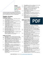 Lista de Magias de Suplementos – TRPG