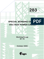 283 Special bonding of high voltage power cables
