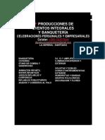 JF PRODUCCIONES DE EVENTOS FLYER