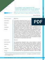 Centralidad y Permanencia Del Pensamiento Geopolítico en La Historia Reciente de Sudamérica (1944-2015)