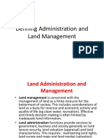 Defining Administration and Land Management