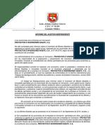 Informe inventario inicial modelo