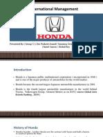 Honda International Management