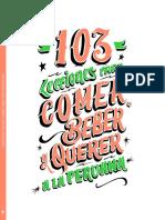 Libro 103 Lecciones para comer, beber y amar a la peruana