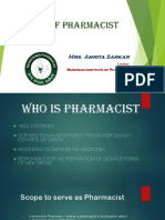 Role of Pharmacist by Amrita Sarkar