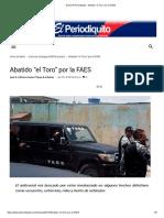 """Diario El Periodiquito - Abatido """"el Toro"""" por la FAES"""