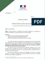 [DOCUMENT PUBLICSENAT.FR] Circulaire du ministère de l'Intérieur sur l'attribution de nuances politiques pour les municipales 2020