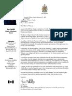Eric Melillo - 2020 Pre-budget Consultations - Invitation to Minister Morneau