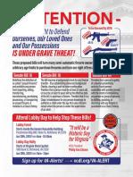 Virginia Citizens Defense League 2020 Lobby Day Flyer