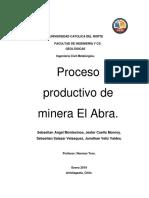 Proceso de produccion de EL Abra 4.0