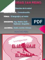 EL LENGUAJE Y EL HABLA