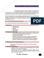 Brief Description on Research Proposal Writing-converted