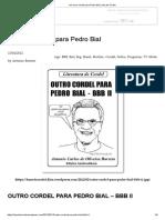 Um Novo Cordel Para Pedro Bial _ Voz Do Cordel