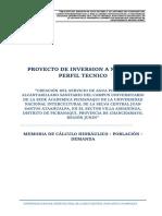 MEMORIA DE CALCULO - AGUA POTABLE UNIVERSIDAD