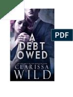 A Debt Owed Clarissa Wild 1