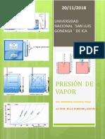 INFORME 3- PRESIÓN DE VAPOR