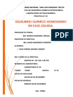 INFORME 4 - EQUILIBRIO QUÍMICO HOMOGENEO EN FASE LÍQUIDA.