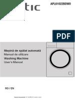 Manual Masina de Spalat Rufe Slim Arctic