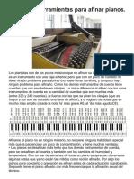 HERRAMIENTAS AFINACION DE PIANO