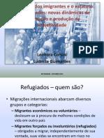 APRESENTAÇÃO XIII ENANCIB_NARRATIVAS DOS IMIGRANTES E ESTATUTO DOS REFUGIADOS