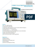D37000A - 70MHz to 200MHz 2 Channel Digital Storage Oscilloscopes