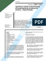 18. NBR 14081, 1998 - Argamassa colante industrializada (antiga).pdf