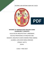 terminologia peruana albañileria concreto
