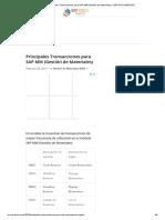 Principales Transacciones para SAP MM (Gestión de Materiales) - ERP DOCUMENTOS