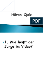lektion 1 Hören-Quiz