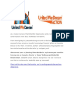 UWDAction - Big News From United We Dream Action