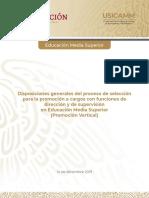 Disposiciones generales Promocion, EMS 2020-2021