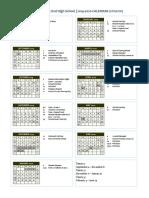 programme mile end calendar 2019-2020 school updated