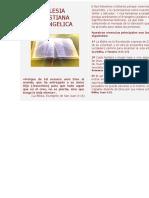 folleto iglesia cristiana