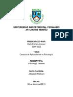 CAMPOS DE APLICACIÓN DE LA PSICOLOGÍA.